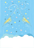 Pieśniowy ptak ilustracja wektor