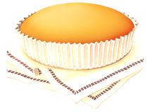 Pie. Little pie on baking cups Stock Photo