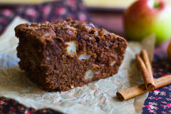 Pie. Ce of cake with an apple Stock Image