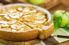 Pie. Apple pie on table closeup Stock Photo