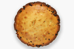 Pie. House batch with raisin on a white background Stock Image
