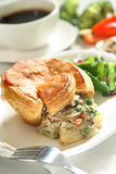 Pie. Mushroom pie with morning lighting Royalty Free Stock Image