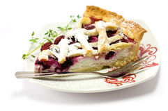 Pie. Homemade berry pie surrounded by red and black berries Stock Photos