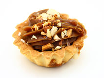 Pie A Basket With Chocolate Condensed Milk Royalty Free Stock Photo