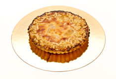 Pie with almonds and pear Royalty Free Stock Photo