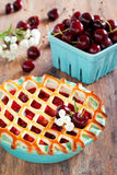 Pie with apples and cherries Stock Photography