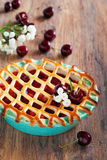 Pie with apples and cherries Royalty Free Stock Photography
