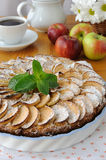 Pie with apples and cinnamon Stock Images