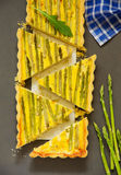 Pie with asparagus Royalty Free Stock Images