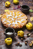Pie with autumn quinces Royalty Free Stock Photography
