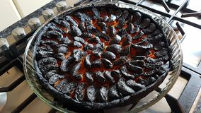 Carbonized apricot pie Royalty Free Stock Image