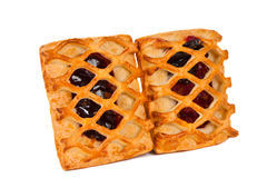 Pie with berry filling isolated Royalty Free Stock Photo