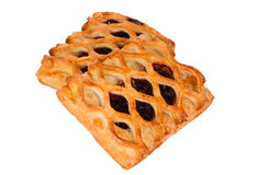 Pie with berry filling isolated Royalty Free Stock Photos