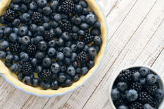 Pie with blueberries Royalty Free Stock Photos
