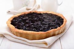Pie with blueberry jam Stock Photo