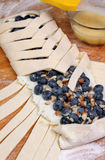 Pie  with blueberry Royalty Free Stock Images