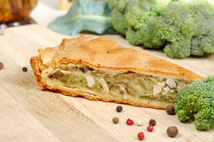 Pie with broccoli Royalty Free Stock Images