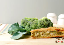Pie with broccoli Stock Image