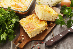 Pie with cabbage and eggs Royalty Free Stock Images