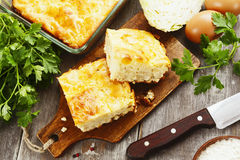 Pie with cabbage and eggs Stock Image