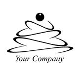 Pie, cake, logo, element of design of cafe Stock Photography