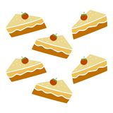 Pie cake pattern Royalty Free Stock Photo