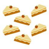 Pie cake pattern Royalty Free Stock Photo