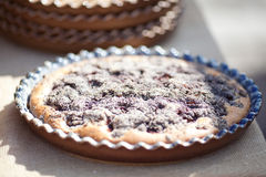 Pie in a ceramic bowl Royalty Free Stock Image