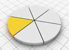Pie chart. Silver and Gold Pie chart Royalty Free Stock Image