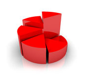 Pie Chart. Graph Diagram in 3d Stock Photography