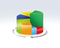 Pie chart. Illustration of a colorful  pie chart Royalty Free Stock Image