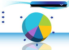 Pie Chart. An image of a Pie Chart Stock Photo