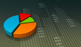 Pie chart. Business pie chart graph. Market data Stock Image