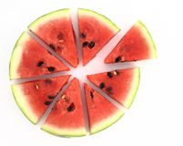 Pie chart. Of watermelon slices Royalty Free Stock Photography
