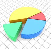 Pie chart. Analyzing. 3d image Royalty Free Stock Images