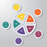 Pie chart or area chart diagram infographics five position. Pie chart or area chart diagram data Elements For Template infographics five position. Business Stock Photography