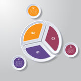 Pie chart or area chart diagram infographics three position. Pie chart or area chart diagram data Elements For Template infographics three position. Business Stock Photography
