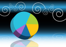 Pie Chart Background Royalty Free Stock Photo