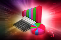 Pie chart and bar graph Stock Images