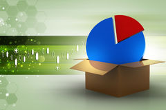 Pie chart in the box Royalty Free Stock Photo