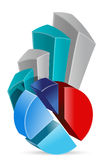 Pie chart Business graph Royalty Free Stock Photo