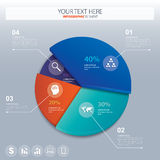 Pie chart - business statistics with icons. Vector Stock Photo