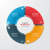 Pie chart circle infographic template with 4 options. Business concept. Vector illustration Stock Images