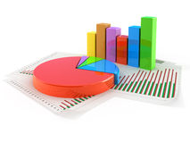 Pie chart concept Stock Images