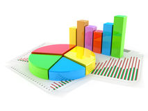 Pie chart concept Stock Photography