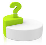 Pie chart diagram and question mark Royalty Free Stock Images