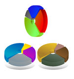 Pie chart diagrams Royalty Free Stock Images