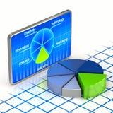 Pie chart digital concept. (3d render Stock Photos