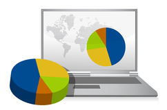 Pie chart digital concept illustration Stock Images
