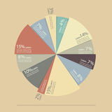 Pie chart for documents and reports infographic. Flat style with long shadow Stock Images